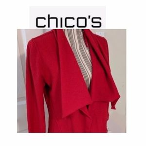 Chico's Long Red Wool Sweater & Turtleneck – Sz. 2
